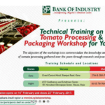 BOI TRAINING ON TOMATO PROCESSING
